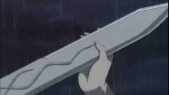 片手で剣を・・・