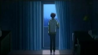 依人 窓の外を眺める