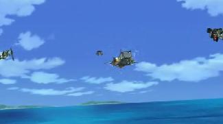 空飛ぶガンダム 4体