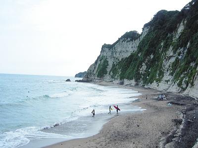 岩壁と海岸