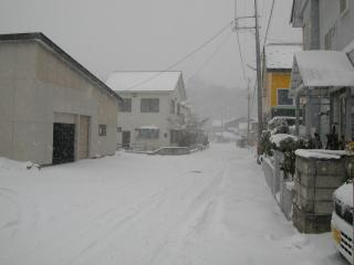 11月なのに吹雪いております