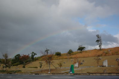 行く途中の虹