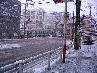 雪の世田道