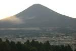 日本一の富士山(帰りのバスにて)