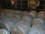 樽熟成されているワイン