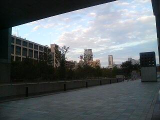 都会でも夕日は綺麗だったりする