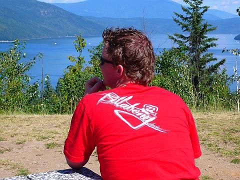 BC州で一番大きな湖