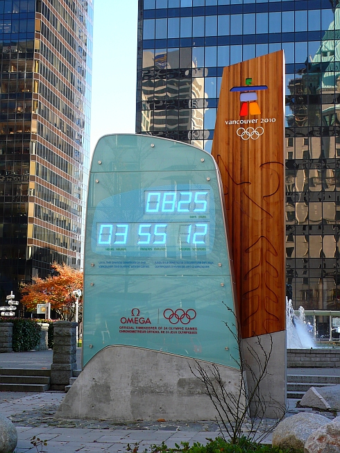 2010 Vancouver Olympic clock