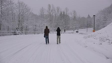 大雪に見舞われる・・・