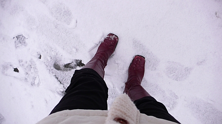 初雪の日に外を出歩いてみる