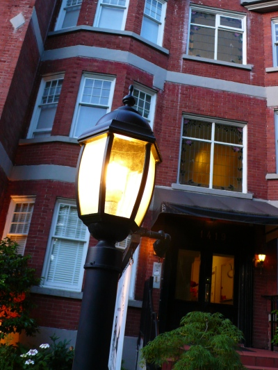ランプと建物
