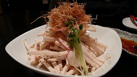 梅マヨの大根サラダ