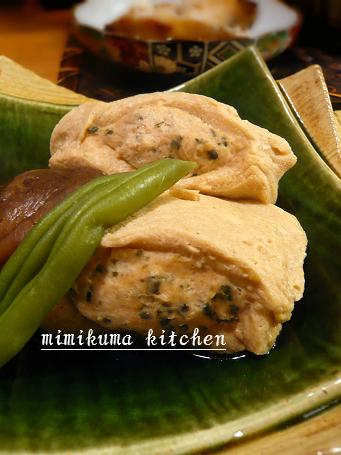 海苔つくね詰め高野豆腐