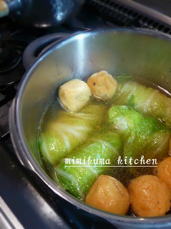 白菜ロールの中華風煮込み