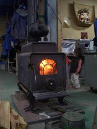 工場の暖炉