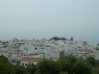 white town by sea
