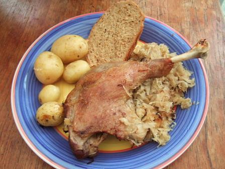 Goose dinner