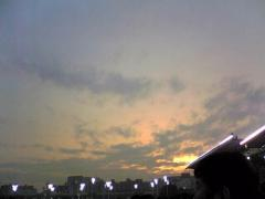 大井競馬場の夕焼け…