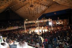 大田区体育館の中。