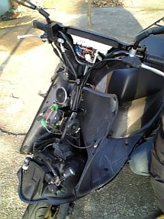 バイクを開くと・・・