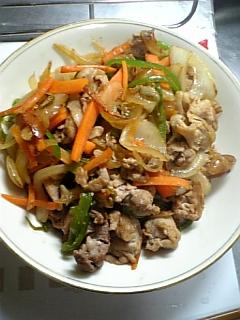 自炊 野菜炒め