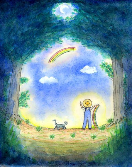 虹の空へ・ブログ童話館アートメルヘン