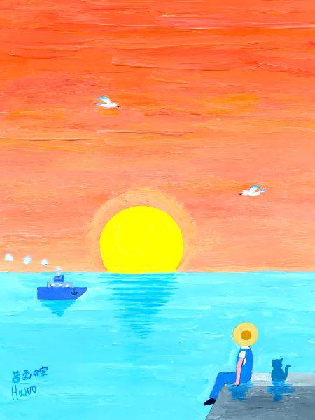 ブログ童話館アートメルヘン「茜色の空」