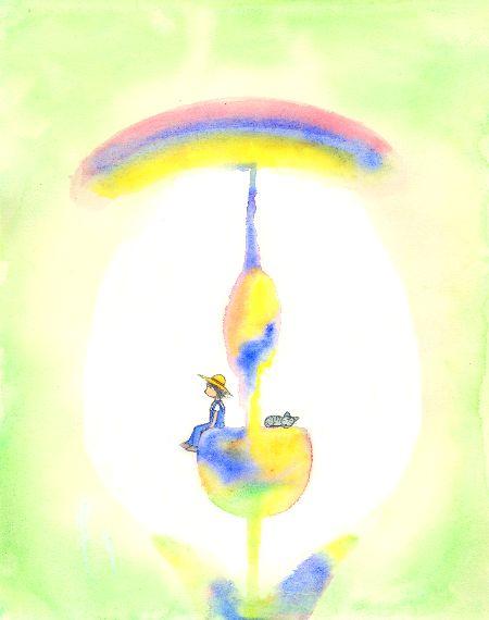 ブログ童話館 虹と花
