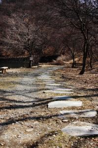 碓氷湖-湖畔の石畳道