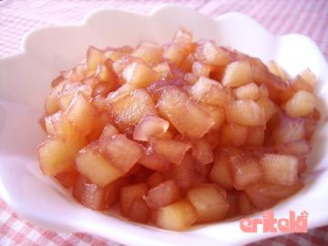 りんごの赤ワイン煮