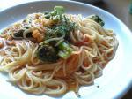 エビとブロッコリーのトマトスパゲティ