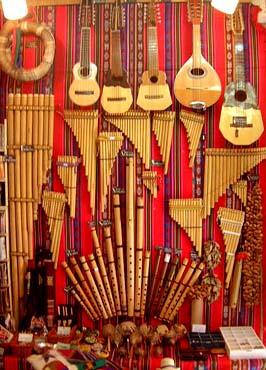 Pukioで売っている南米の楽器