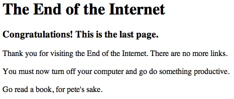 end of internet