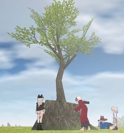 枯葉から若い木