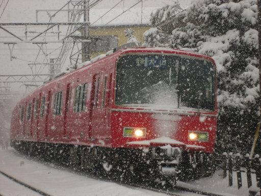 雪中進行!