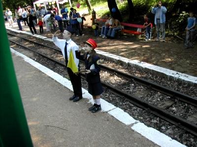 子供鉄道の駅員