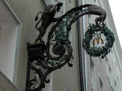 サルツブルグの看板