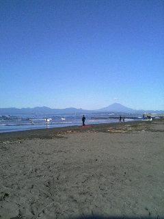 鵠沼開眼からの富士山