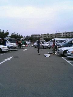 朝一の駐車場