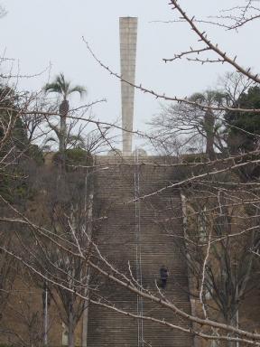 塔を望見て