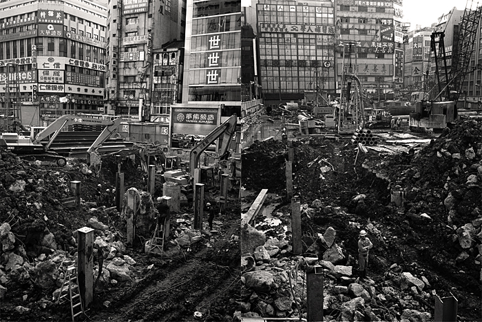 台北の工事現場_1990