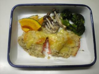 サーモンポテト焼き