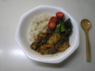 お豆腐ドライカレー