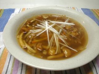 切り干し大根とくずきりのつるつるスープ