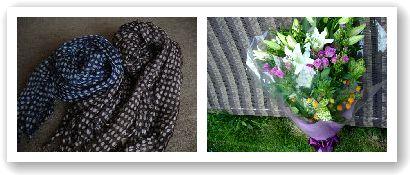 やすより花束+スカーフ