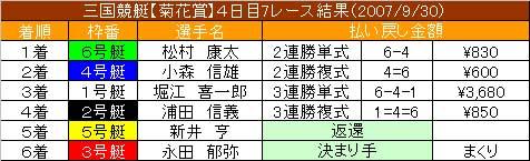 9/30・7レース結果