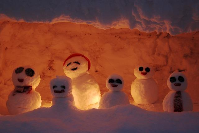 雪ダルマ3