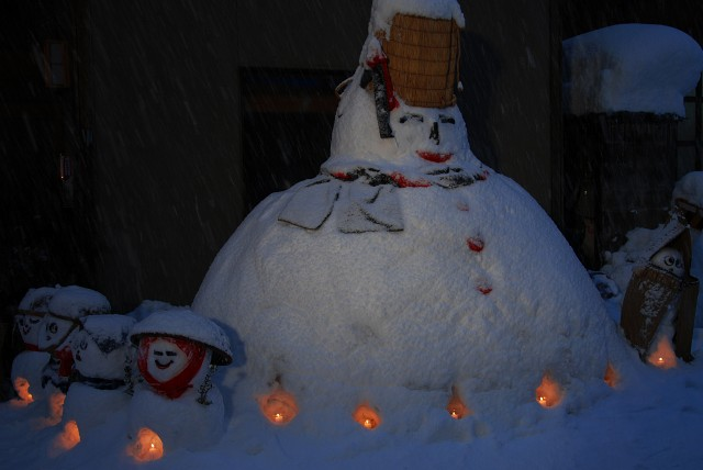 雪ダルマ5