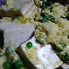 豆腐とグリンピ~♪