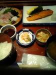 日替わり食たけど刺身も焼き魚も美味~~~いっ